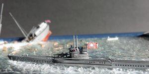 U-Boot Diorama 1:700
